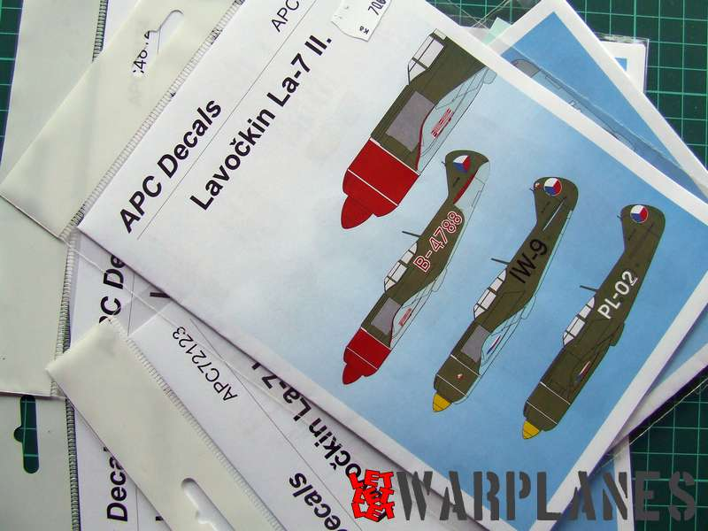 Pack of APC decals for Lavockin La-7 fighter