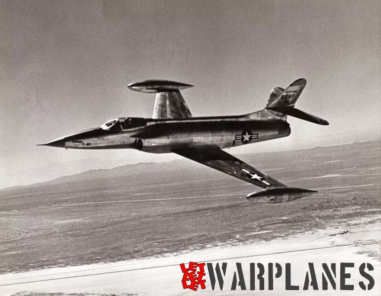 One of the first Lockheed photo releases of the first XF-90 prototype no. 46-687. Most likely it was purposely made a little bit unsharp to hide crucial information!